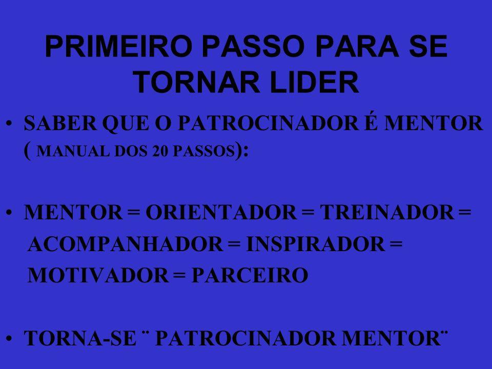 PRIMEIRO PASSO PARA SE TORNAR LIDER