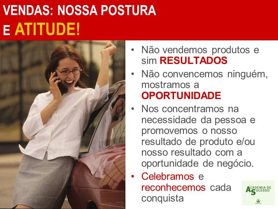 VENDAS: NOSSA POSTURA E ATITUDE!