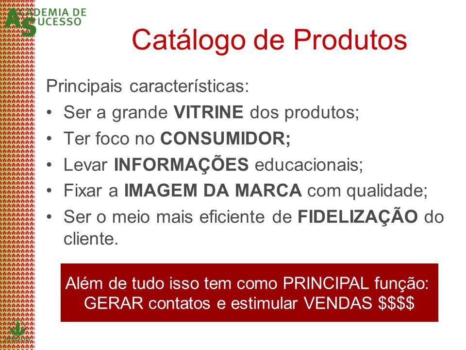 Catálogo de Produtos Principais características: