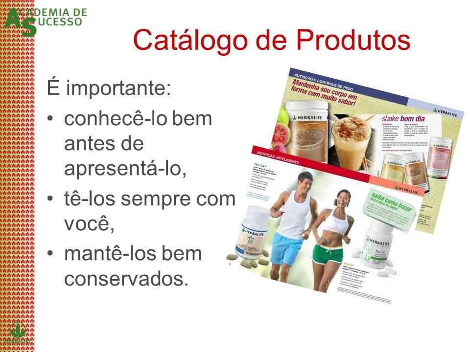 Catálogo de Produtos É importante:
