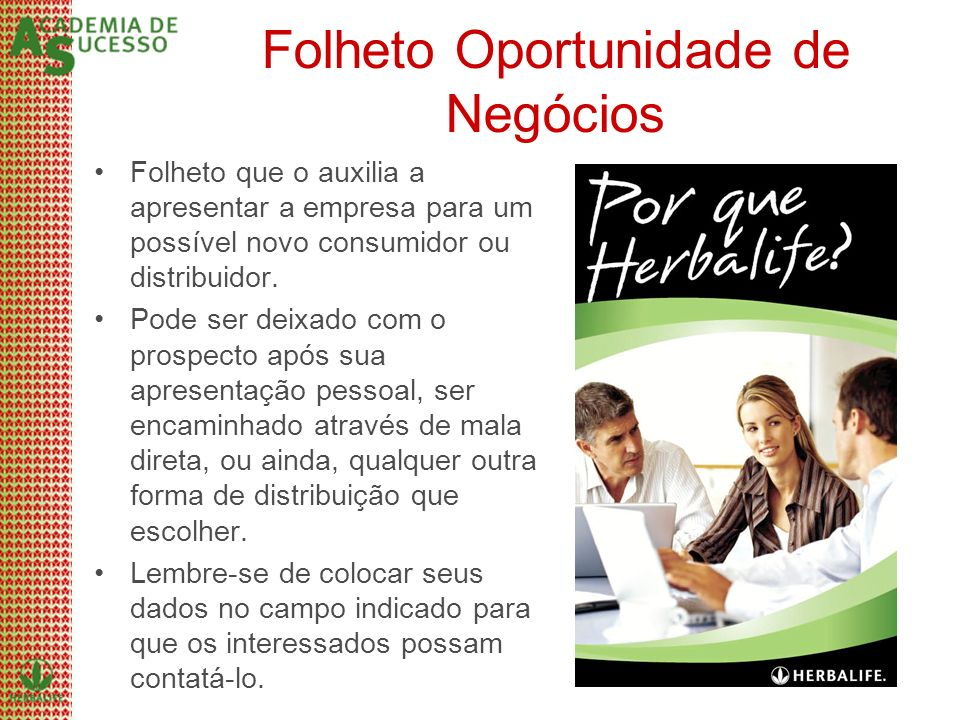 Folheto Oportunidade de Negócios