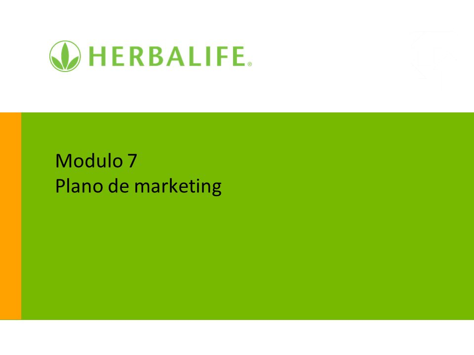 Modulo 7 Plano de marketing