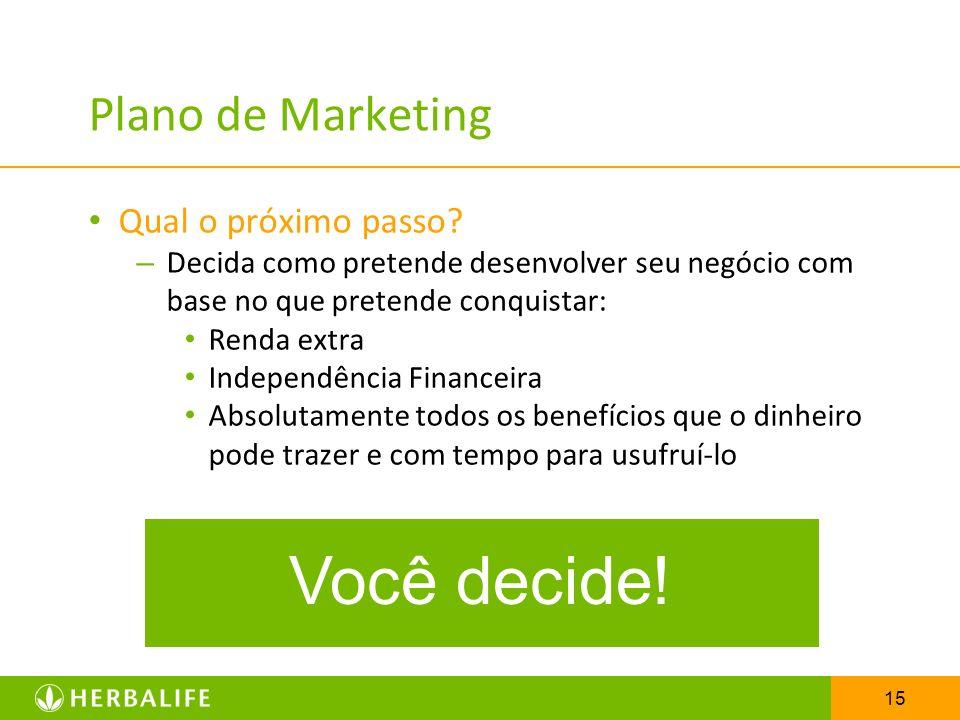 Você decide! Plano de Marketing Qual o próximo passo