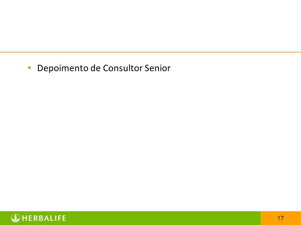 Depoimento de Consultor Senior
