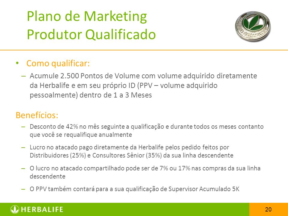 Plano de Marketing Produtor Qualificado