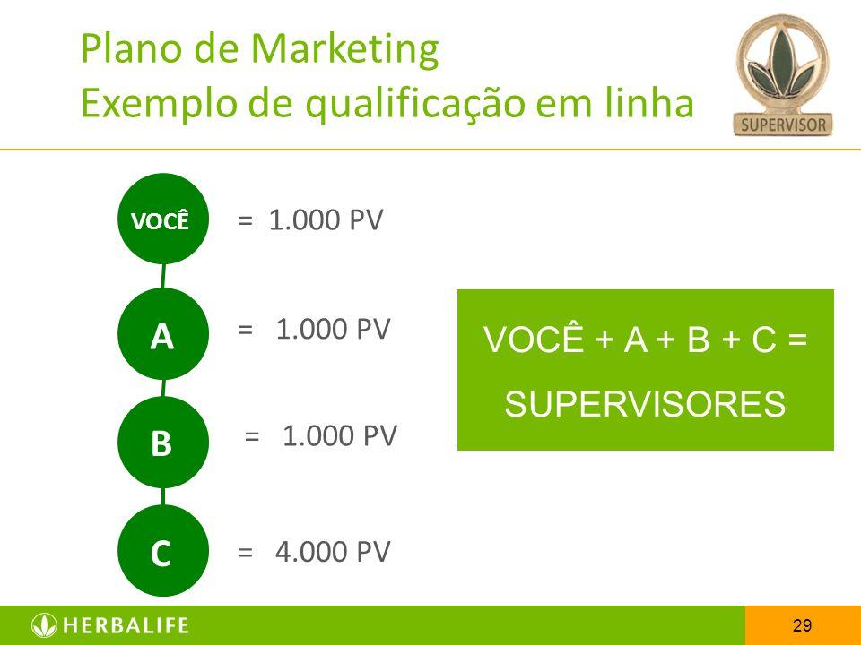 Plano de Marketing Exemplo de qualificação em linha
