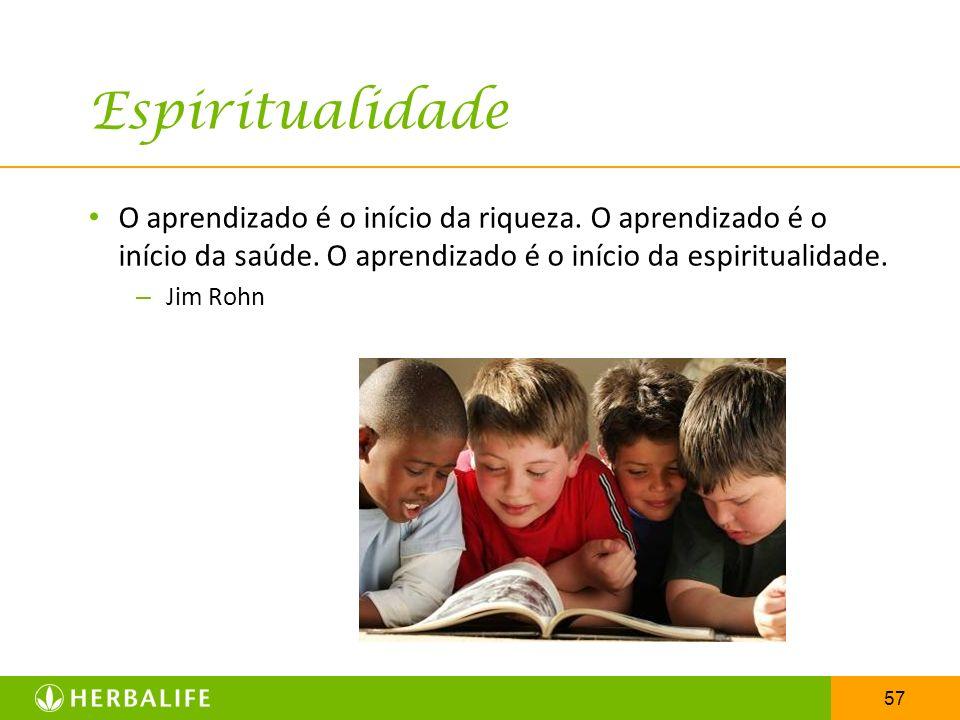 Espiritualidade O aprendizado é o início da riqueza. O aprendizado é o início da saúde. O aprendizado é o início da espiritualidade.