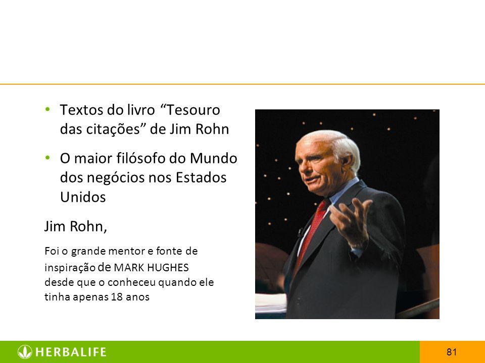 Textos do livro Tesouro das citações de Jim Rohn