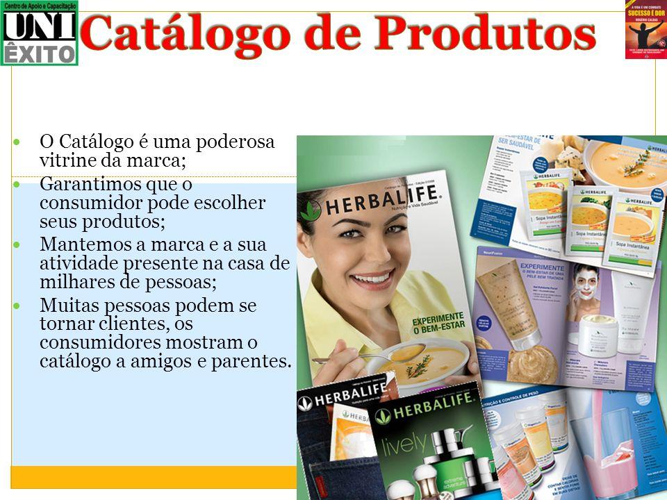 Catálogo de Produtos O Catálogo é uma poderosa vitrine da marca;