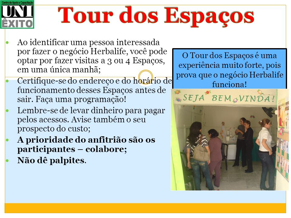 Tour dos Espaços