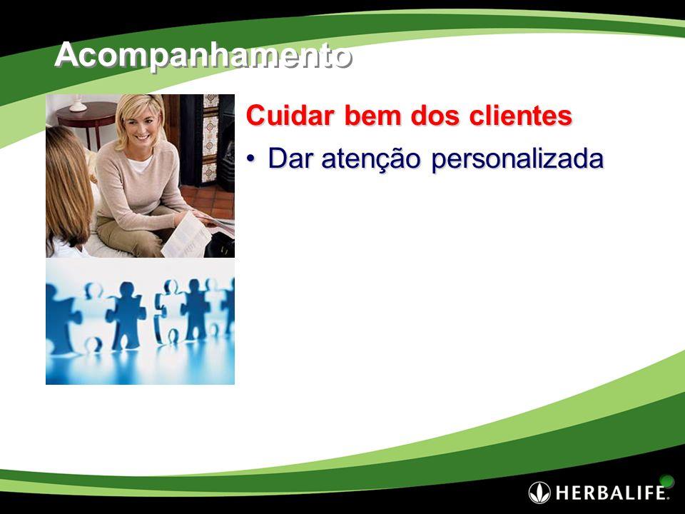 Acompanhamento Cuidar bem dos clientes Dar atenção personalizada