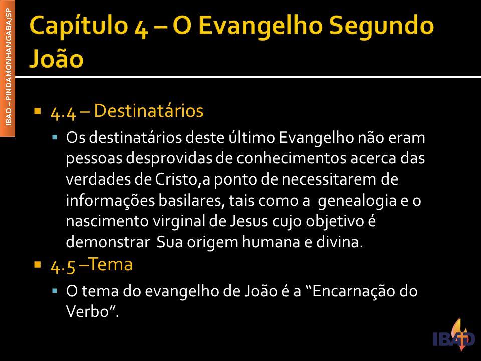 Capítulo 4 – O Evangelho Segundo João