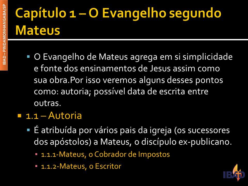 Capítulo 1 – O Evangelho segundo Mateus