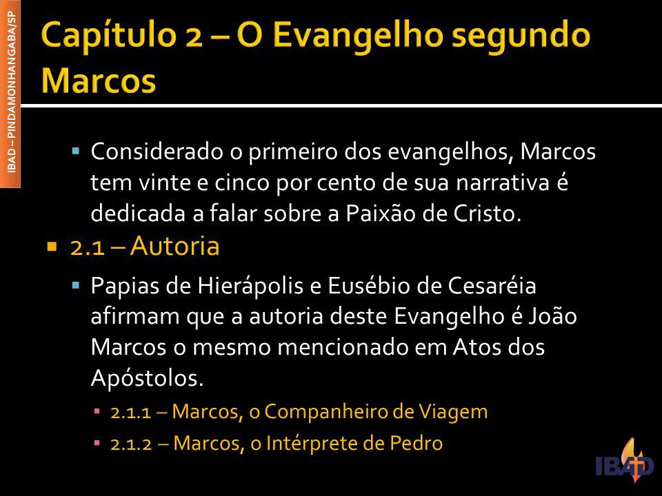 Capítulo 2 – O Evangelho segundo Marcos