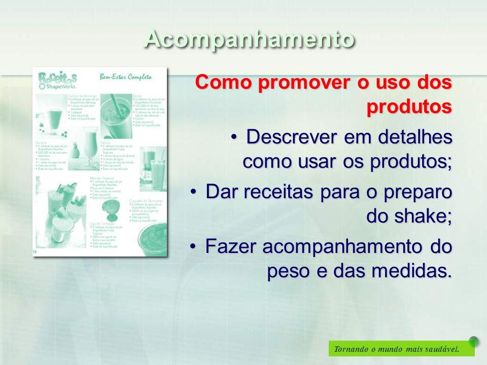 Acompanhamento Como promover o uso dos produtos