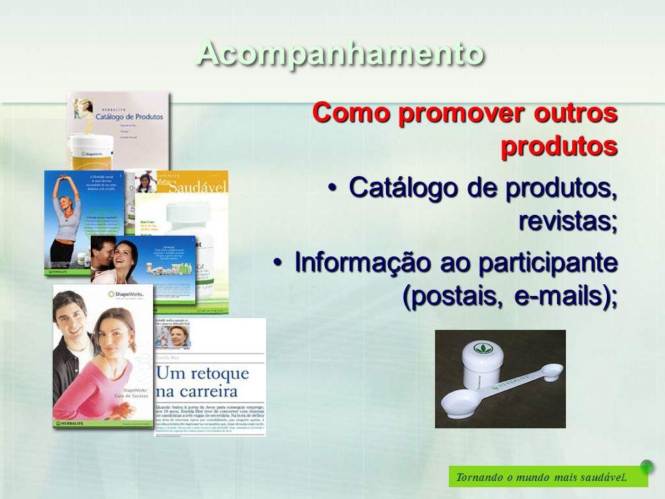 Acompanhamento Como promover outros produtos