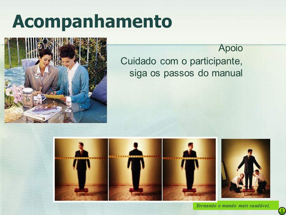 Acompanhamento Apoio Cuidado com o participante, siga os passos do manual