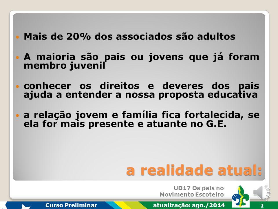 a realidade atual: Mais de 20% dos associados são adultos