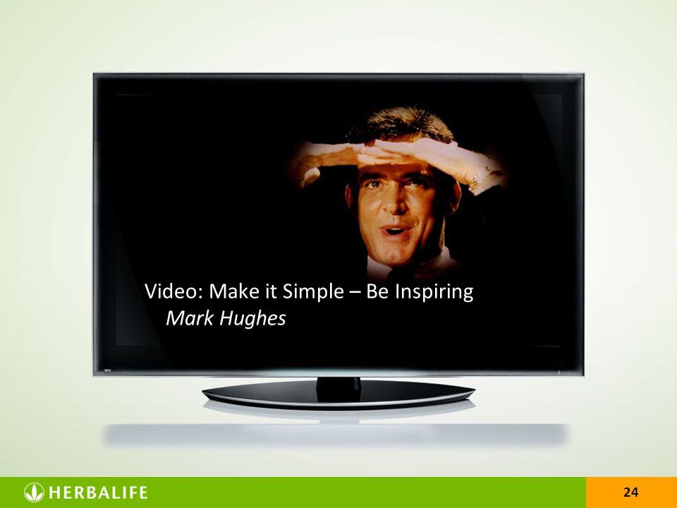 Video: Make it Simple – Be Inspiring Mark Hughes