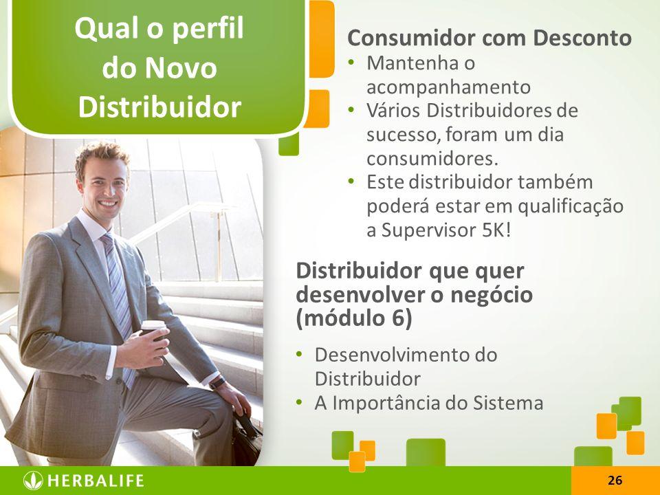 Qual o perfil do Novo Distribuidor