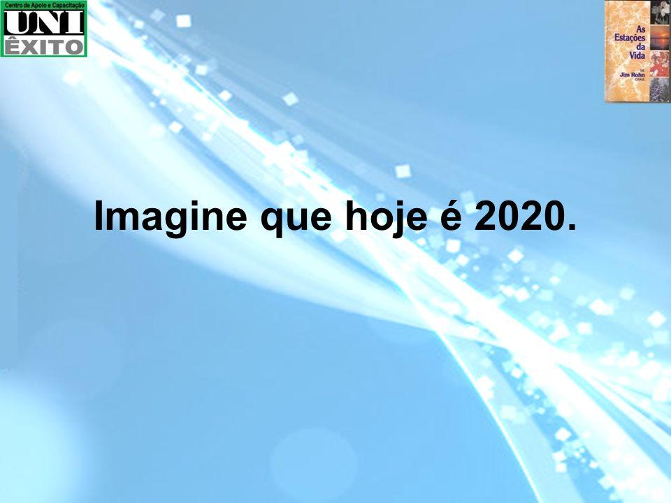 Imagine que hoje é 2020.