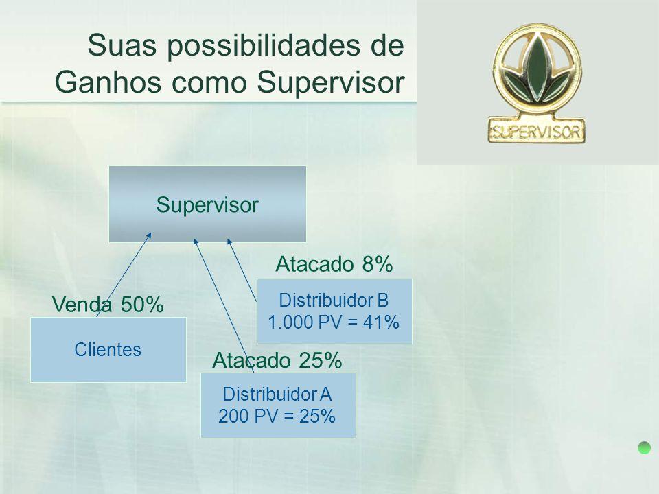 Suas possibilidades de Ganhos como Supervisor