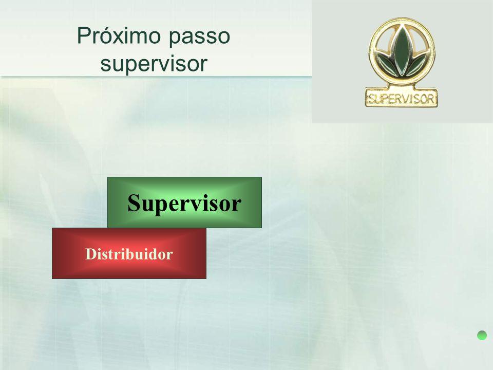 Próximo passo supervisor Supervisor Distribuidor 9