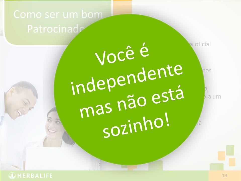 Você é independente mas não está sozinho!