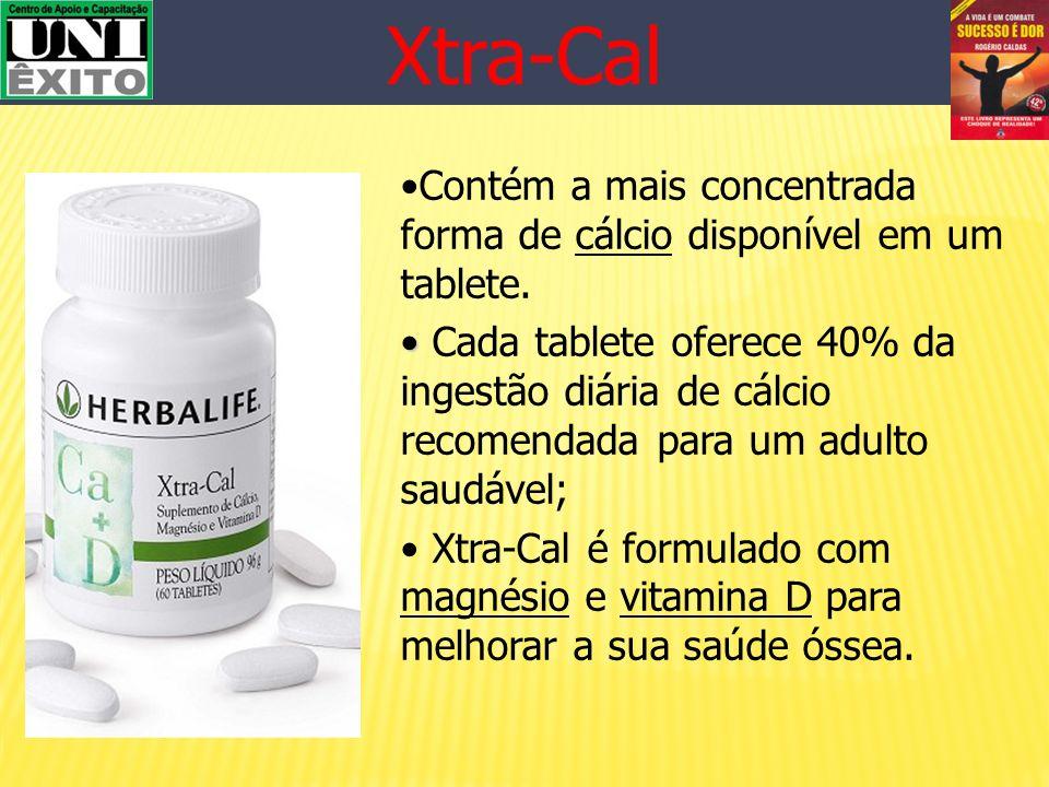Xtra-Cal Contém a mais concentrada forma de cálcio disponível em um tablete.