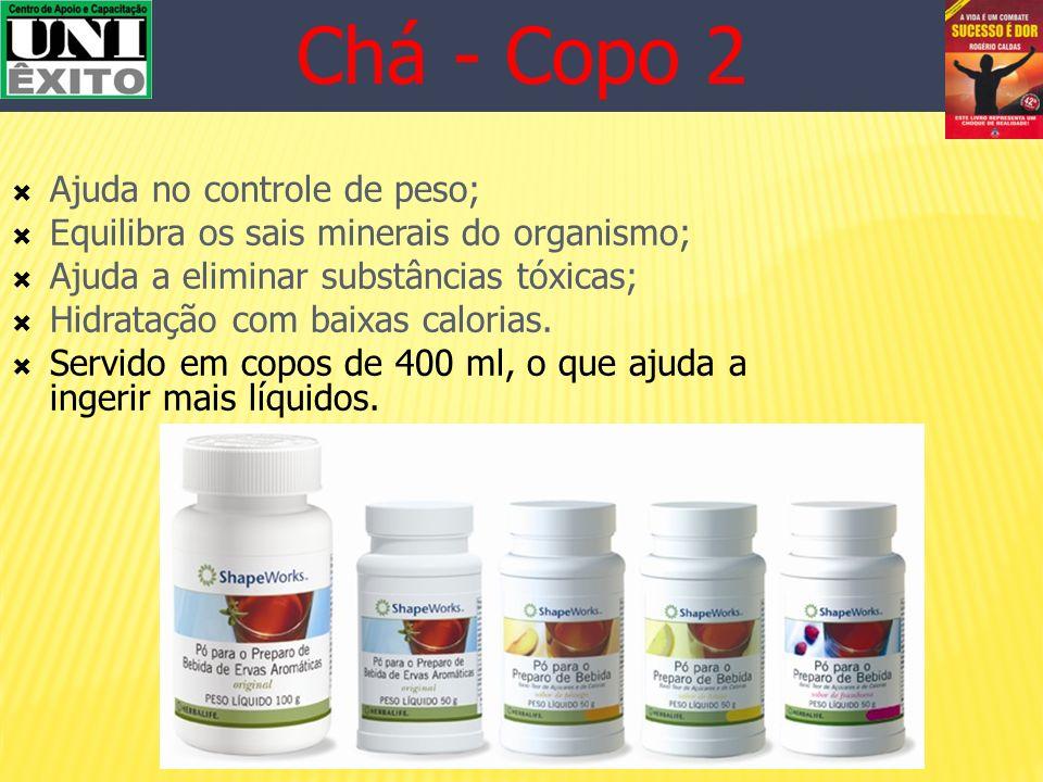Chá - Copo 2 Ajuda no controle de peso;