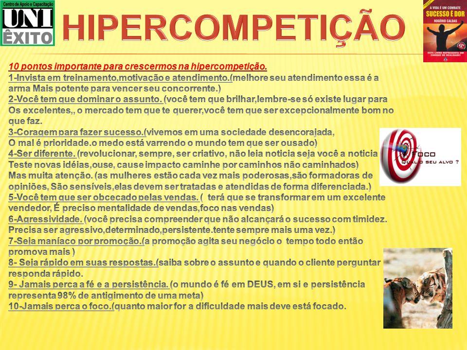 HIPERCOMPETIÇÃO 10 pontos importante para crescermos na hipercompetição.