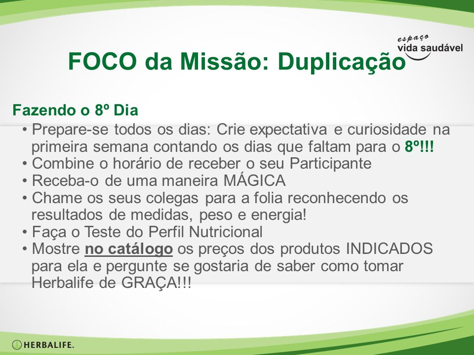FOCO da Missão: Duplicação