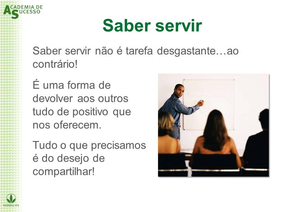 Saber servir Saber servir não é tarefa desgastante…ao contrário!