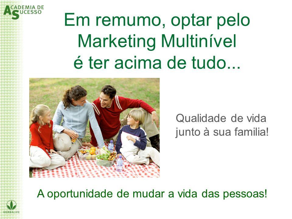 Em remumo, optar pelo Marketing Multinível