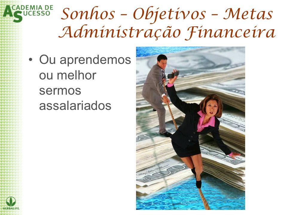Sonhos – Objetivos – Metas Administração Financeira