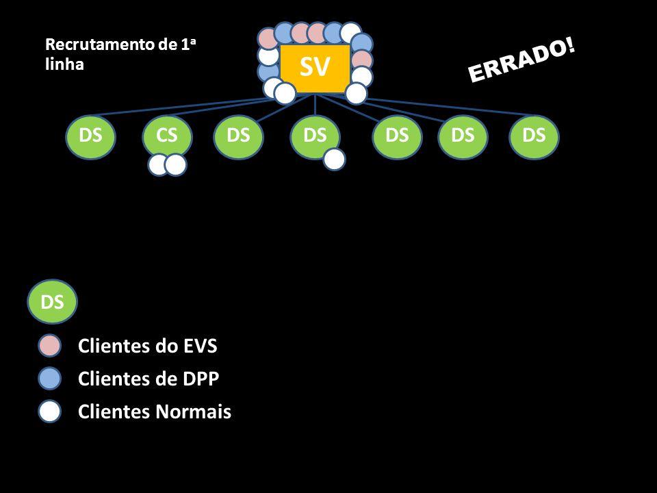 SV ERRADO! DS CS DS DS DS DS DS DS Clientes do EVS Clientes de DPP