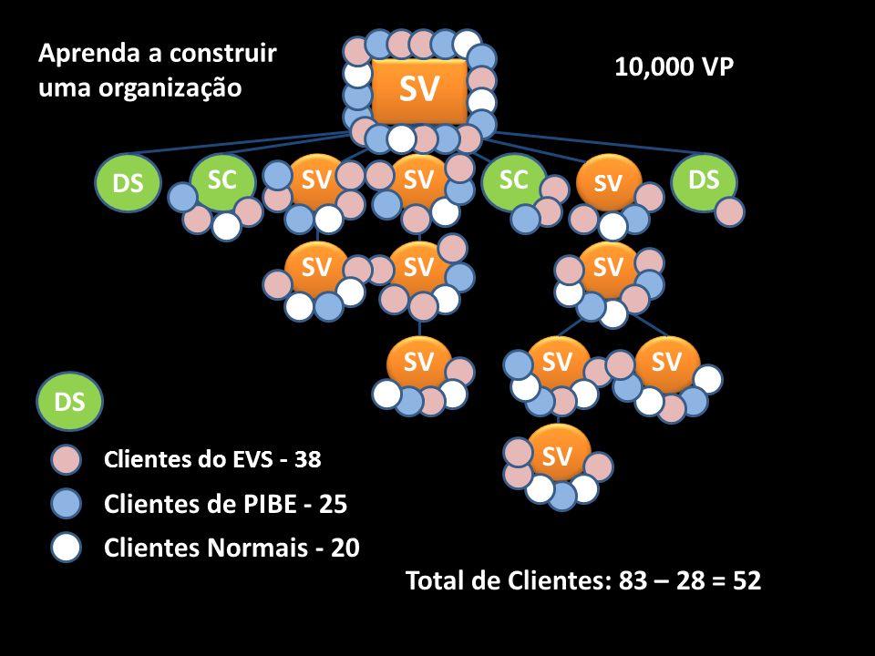 SV Aprenda a construir uma organização 10,000 VP DS SC SV SV SC DS SV