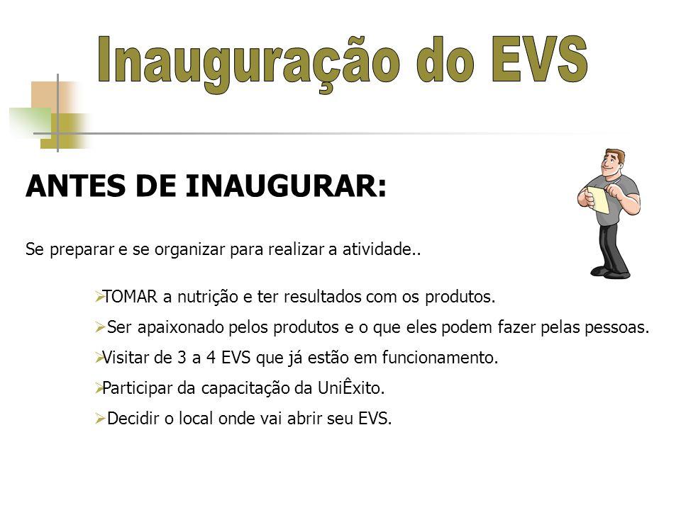 Inauguração do EVS ANTES DE INAUGURAR: