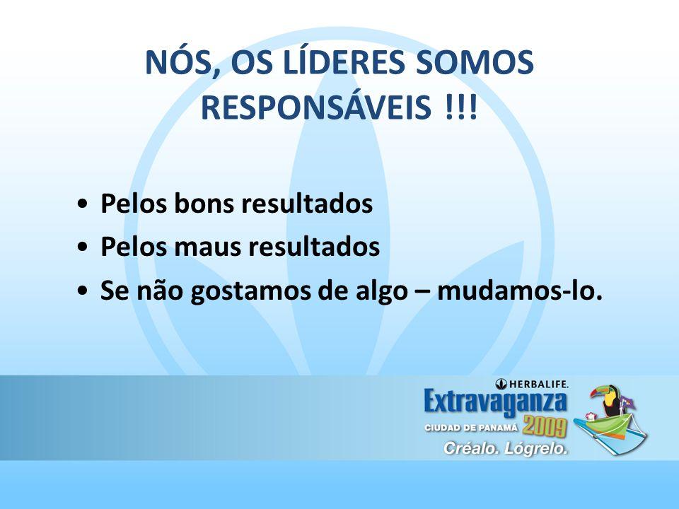 NÓS, OS LÍDERES SOMOS RESPONSÁVEIS !!!