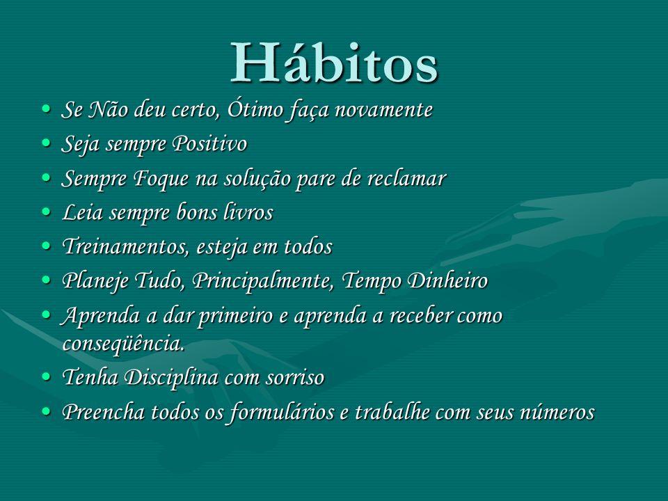 Hábitos Se Não deu certo, Ótimo faça novamente Seja sempre Positivo