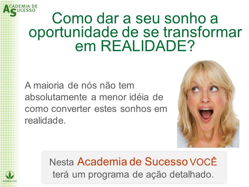 Como dar a seu sonho a oportunidade de se transformar em REALIDADE
