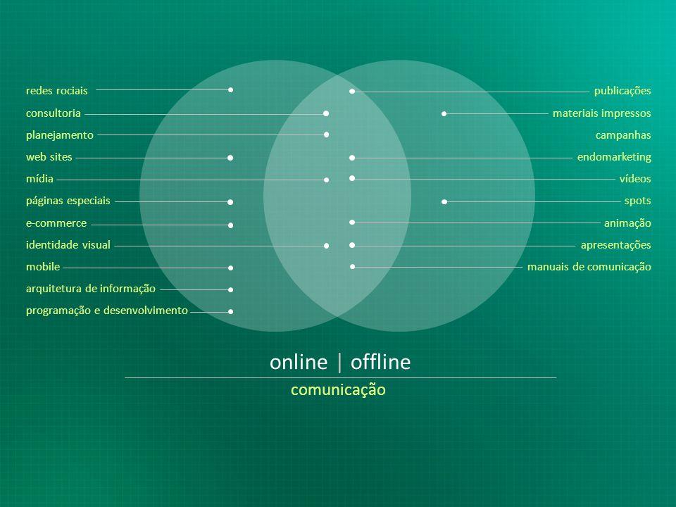 online | offline comunicação redes rociais publicações consultoria