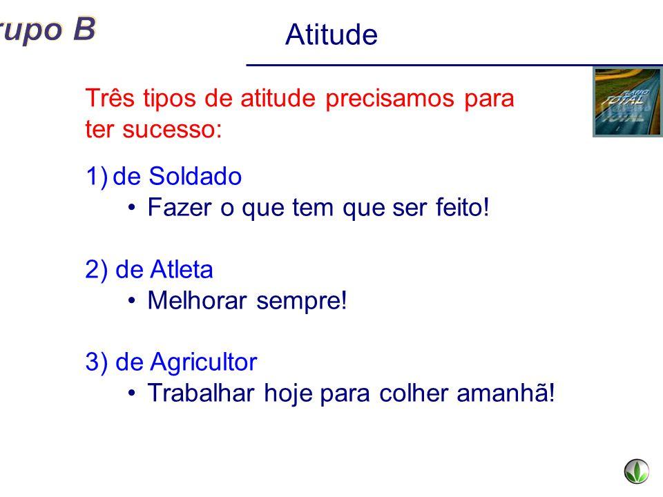 Atitude Três tipos de atitude precisamos para ter sucesso: de Soldado