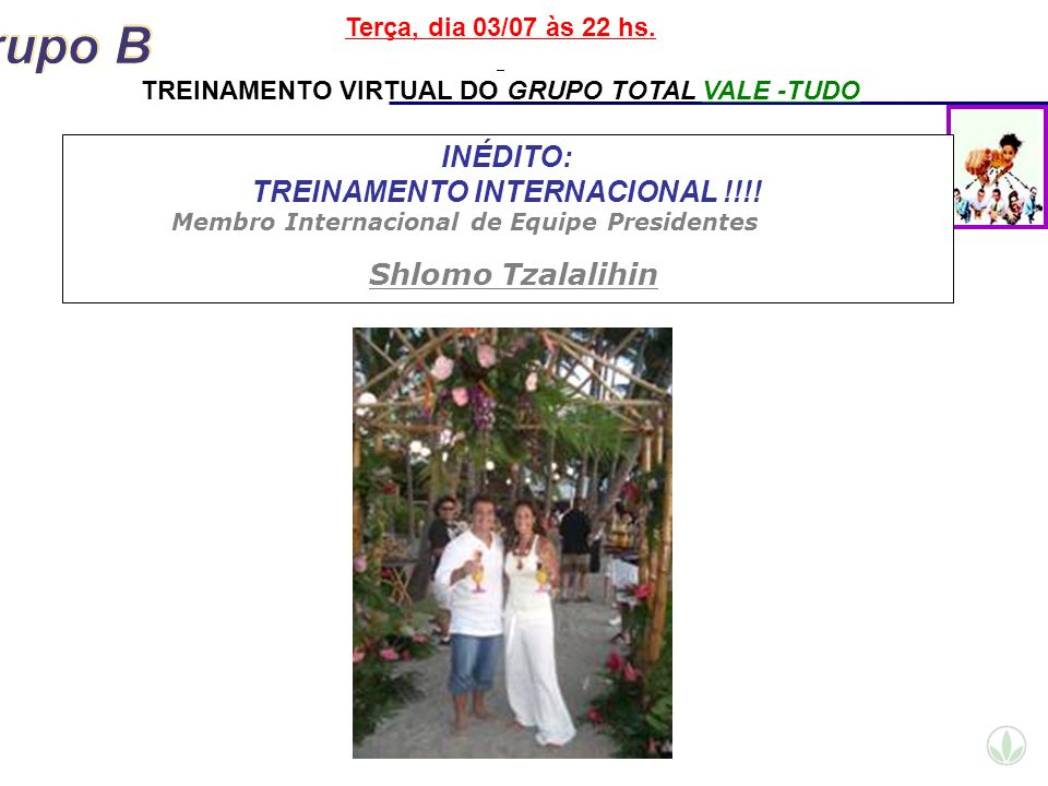 INÉDITO: TREINAMENTO INTERNACIONAL !!!!