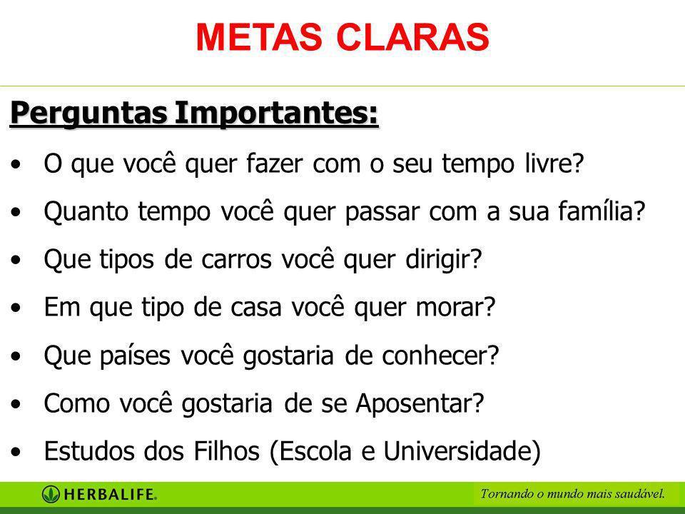 METAS CLARAS Perguntas Importantes: