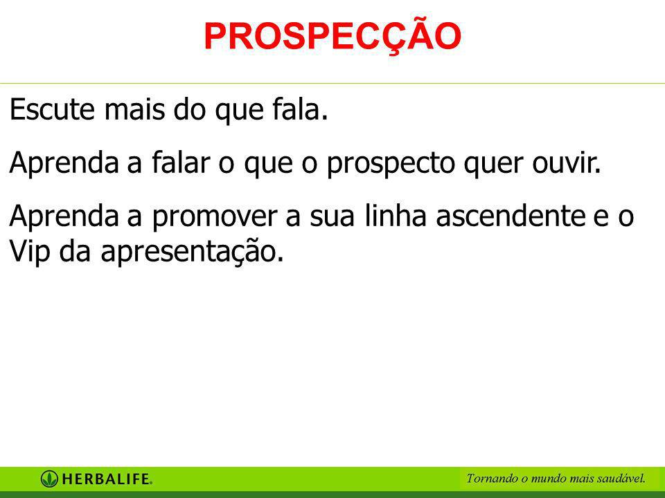 PROSPECÇÃO Escute mais do que fala.