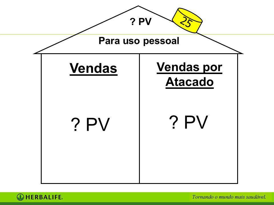 25 PV Para uso pessoal Vendas Vendas por Atacado PV PV