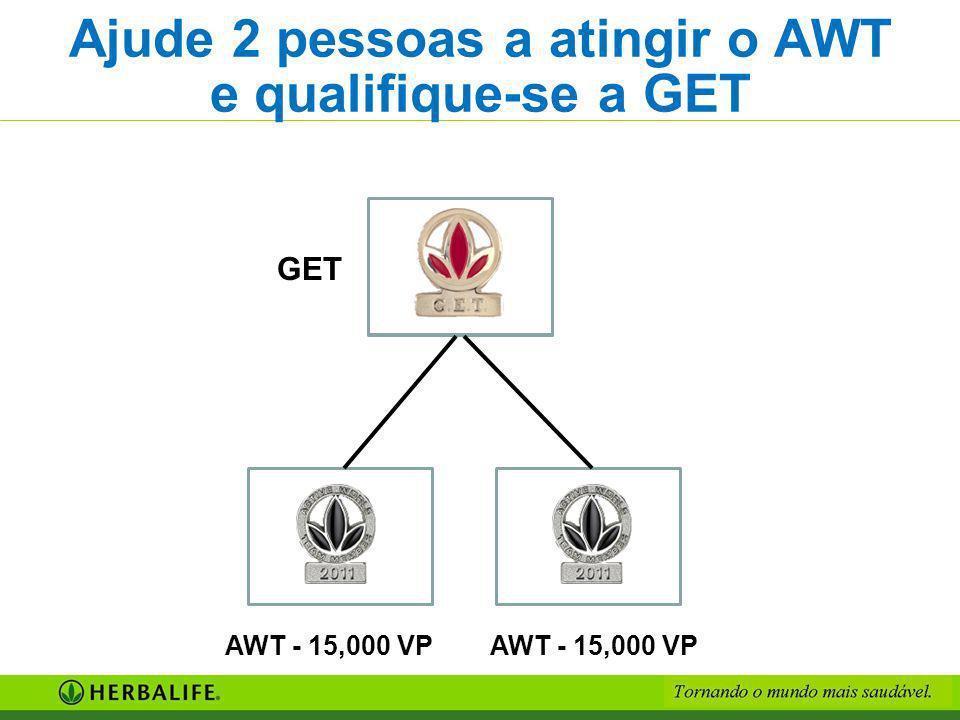 Ajude 2 pessoas a atingir o AWT e qualifique-se a GET