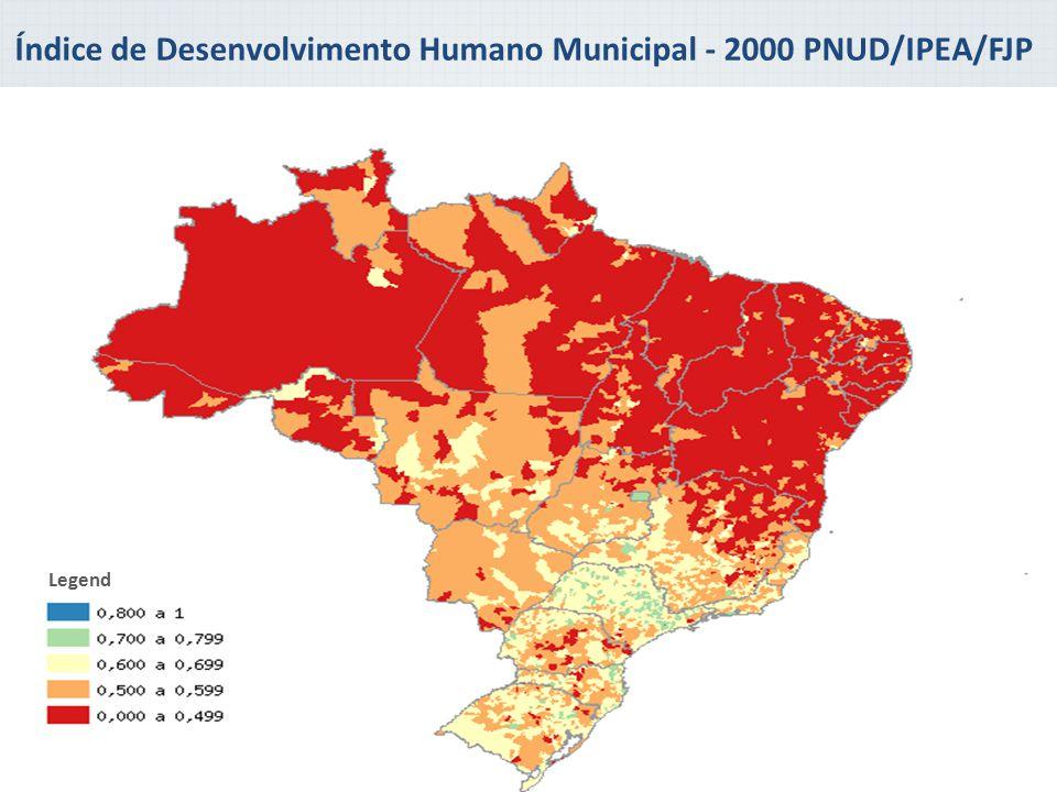 Índice de Desenvolvimento Humano Municipal - 2000 PNUD/IPEA/FJP