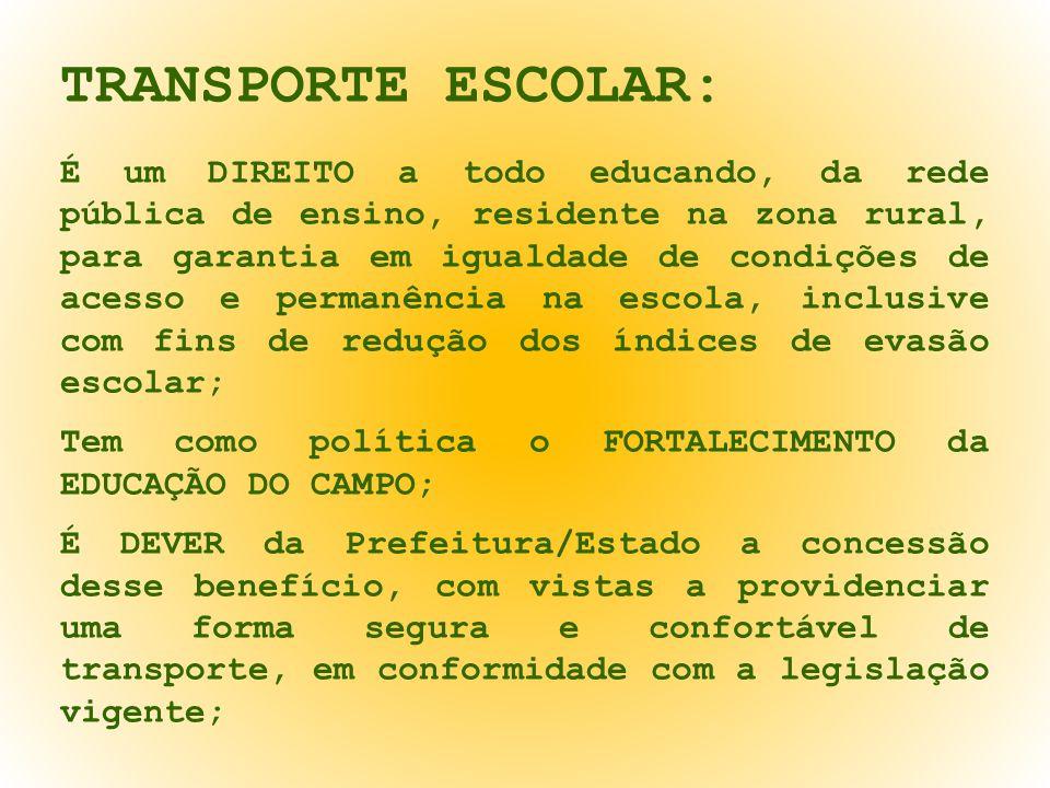 TRANSPORTE ESCOLAR: